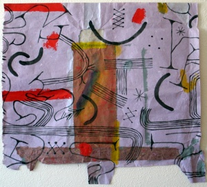 2015; Acrylic and Collage on Paper